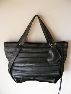 recycled bag made from inner tubes