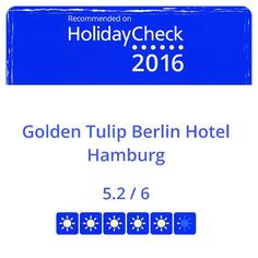 "Yes, wir sind wieder ""Recommened on HolidayCheck 2016"". #HolidayCheck #Hotelbewertung #hotelreview #recommendation #Hotel #Berlin #CityWest #GoldenTulipBerlin"