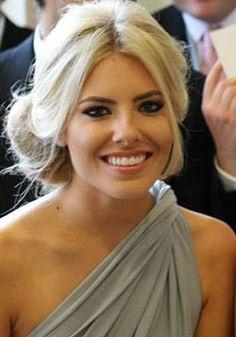 Mollie King's bridesmaid hair