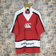 7562dce18e8 All Blacks CANTERBURY Of New Zealand Rugby Shirt Mens Medium Steinlager  Canterbury All Blacks Short Sleeves Shirt CCC Red Size M