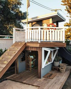 Just wanted to say a big thanks for all the Cubby House love, we've had the best fun putting it together 🙌🏼 🙏🏼💙 I've linked the vid… Backyard Playhouse, Build A Playhouse, Backyard Playground, Backyard For Kids, Playground Design, Kids Cubby Houses, Kids Cubbies, Play Houses, Kyal And Kara