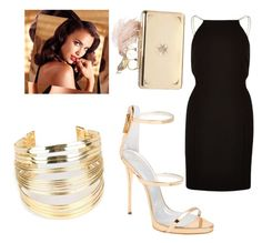 """""""goldie :)"""" by jamakova ❤ liked on Polyvore featuring beauty, Avon, River Island, Giuseppe Zanotti, Alexander McQueen, WithChic and Lifestyle"""
