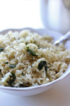 Instant Pot Cafe Rio Cilantro Lime Rice--this quicklycooked seasoned rice is just like Cafe Rio's and it makes the perfect addition to any Mexican dish.