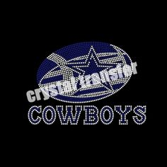 Crystal Transfer iron on FOOTBALL& dallas cowboys rhinestone