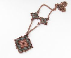 Necklace with rhombus pattern | Flickr - Photo Sharing!