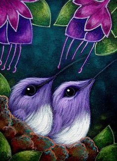 Artist's Portfolio of Cyra R Cancel - Thumbnails for art in gallery '' - Page 5 Oil Pastel Paintings, Oil Pastel Art, Oil Pastel Drawings, Animal Paintings, Art Drawings For Kids, Bird Drawings, Animal Drawings, Hummingbird Art, Airbrush Art