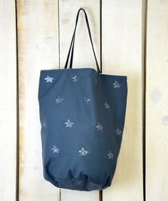 Squirrel row, shoopiing bag stars gris www.squirrelrow.es