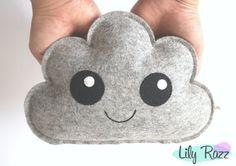 Cloud di cuscino carina Cloud grigio nuvola Morbidone di LilyRazz