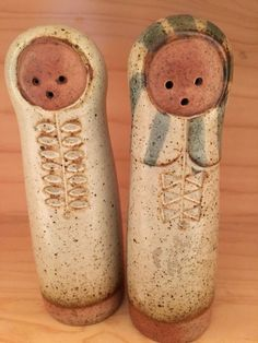 pink - babies -  salt and pepper shakers - Midcentury ceramic - Lisa Larson style