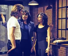 Miguel (Ricky Martin) was convinced by Lois (Rena Sofer) and Brenda (Vanessa Marcil) to perform for Lois as a fill-in for Ned's band. - 1990s #GH #GH50