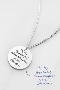 a0c0c9aee4077 53 Best Handwriting Necklace images in 2019 | Money, Dreams, Gifts ...