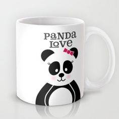 This super cute and sweet phone case features a lovely girl panda with a pink bow in her hair and a pink blush on her cheeks. This would make a