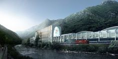 Image 49 of 50 from gallery of BIG Selected to Design San Pellegrino Factory and Headquarters in Northern Italy. Photograph by BIG San Pellegrino, Big Architects, Win Competitions, Italy Images, Water Branding, Northern Italy, Classic Italian, Rue, Tourism