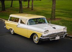 """1958 Ford Ranch Wagon // I'm scrambling up a """"best offer"""" now!  I want this so much.  It would be over the top with my Vintage Trailer"""