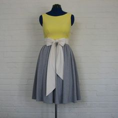 .if  i  designed a grey and yellow  wedding this  might  be the  bridesmaids dresses