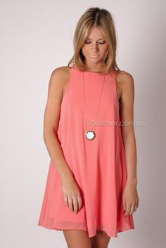 Isla cocktail dress - coral