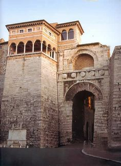 Etruscan Gate in Perugia, Italy