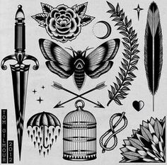 Traditional #tattoo #flash #illustration