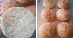 Egyszerűen imádok zsemlét sütni! A bélzete puha, kívül pedig ropogós - Ketkes.com Baking Buns, Bread Baking, Ciabatta, Macarons, Bakery, Pizza, Sweets, Cheese, Cooking
