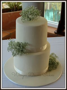 Baby's Breath Wedding Cake | Flickr - Photo Sharing!