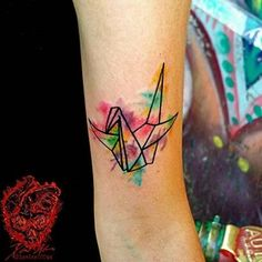 Watercolors tattoo by Xavier