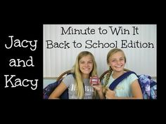 Minute to Win It ~ Back to School Edition ~ Jacy and Kacy - YouTube
