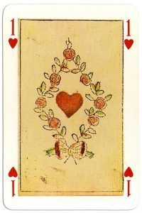 Playingcardstop1000 As De Corazones Jeu Des 4 Saisons De L An