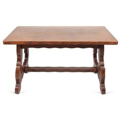 Check out this item at One Kings Lane! English Oak Trestle Table