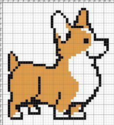 corgi x-stitch pattern by Lyndzi49, via Flickr