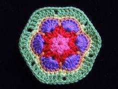 Crochet : Flor Africana 1 - YouTube
