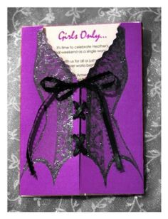 Pack of 10 Bachelorette or Wedding Shower Invitations - PURPLE. $25.00, via Etsy.
