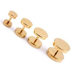 Goldfärbige Edelstahl Fake Plugs - 6 | 8 | 10 | 12mm lieferbar Fake Piercing, Piercings, Fake Plugs, Gold, Stainless Steel, Peircings, Piercing, Yellow