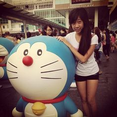 Hehe, taking pictures like everyone else. :D  my jetlagged face. #doraemon - @toriichu- #webstagram