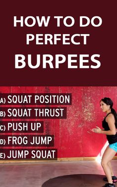 *THIS IS HOW YOU DO A PERFECT BURPEE: http://therunningbug.co.uk/videos/b/how-to/archive/2015/03/23/how-to-do-burpees.aspx?utm_source=Pinterest #fitness #gym #burpee #getfit