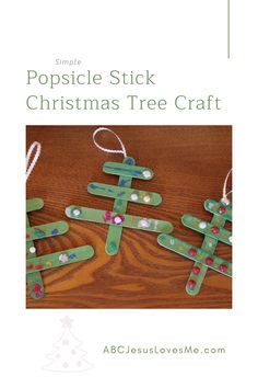 Enjoy this simple craft with your kiddos. All you need are popsicle sticks, scissors, paint, glue, and fun! Popsicle Stick Christmas Crafts, Stick Christmas Tree, Christmas Tree Crafts, Popsicle Sticks, Preschool Curriculum, Preschool Activities, 3 Year Olds, Process Art, All You Need Is