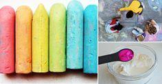 Hacer tiza es simple y divertido. Es una gran actividad para hacer junto a tus niños. Combina formas y colores para hacer una colección de tizas tan diversa como tú quieras, ¡úsalas para jugar y...