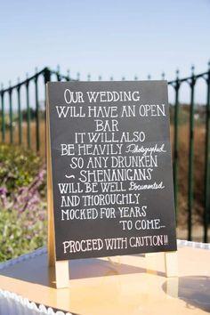 funny wedding signs best photos - wedding signs - cuteweddingideas.com