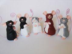 CUSTOM Rat Ornament Memo Rat Holder Rat by PhilosophyfoxCrafts