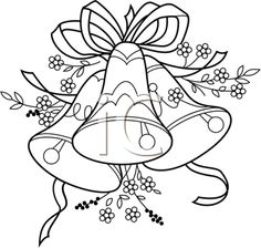 iCLIPART - Illustration of #Wedding Bells Coloring page for kids during wedding/reception
