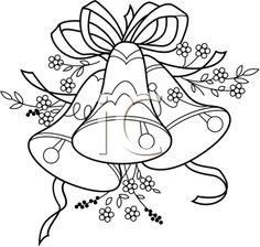 iclipart illustration of wedding bells coloring page for kids during weddingreception