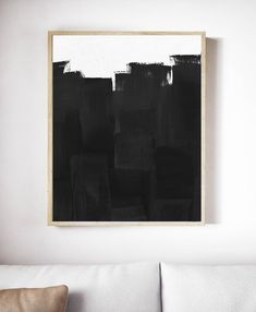 Black and White Painting. Printable Black and White Print. Black and White Art. Black Wall Art, Black And White Artwork, Black Art, Art Actuel, Art Blanc, Large Abstract Wall Art, Ouvrages D'art, New Wall, Texture Painting