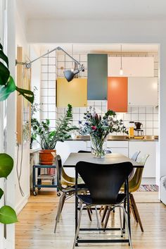 multicolor panel kitchen cabinets