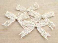 Mulberry Paper Rustic Ribbon Bows set of 10  by SQUISHnCHIPS, $3.50