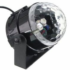 KINGSO Mini Disco DJ Stage Lights 5W LED RGB Sound Actived Crystal Magic…