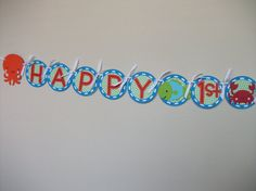 Under the Sea Birthday Party Banner by sweetheartpartyshop on Etsy
