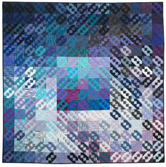 Blizzard, by Ann Feitelson. 4th place winner, 2013 Jacob's Ladder themed New Quilts from an Old Favorite annual contest, National Quilt Museum