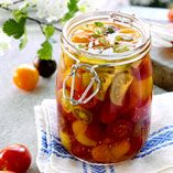 Here is a delicious recipe for Preserved cherry tomatoes. Browse though a wide variety of recipes, tips and inspiring ideas. Chutney, Preserving Tomatoes, Cherry Tomato Recipes, Swedish Recipes, Cherry Tomatoes, Grilling Recipes, Preserves, Food Porn, Food And Drink