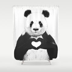 Hundreds Of Thousands Art Designs On Our Unique Shower Curtains Made From 100 Panda PandaPanda BearsPanda