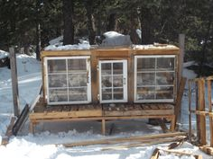 Old Windows ~ Chicken Coop