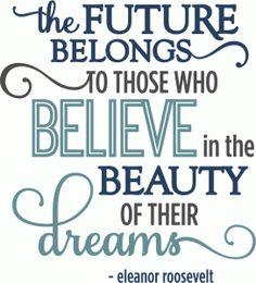 Silhouette Online Store - View Design #60694: future belongs beauty of dreams - phrase
